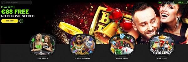 888 Casino 88 free spins bonus