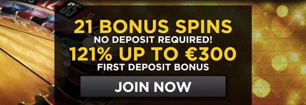 21 Casino 21 free spins bonus