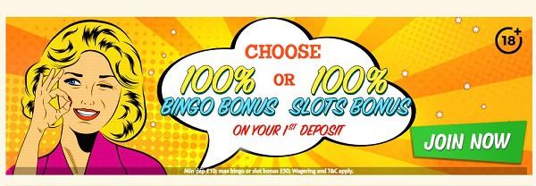 Bingo Extra 100% welcome bonus