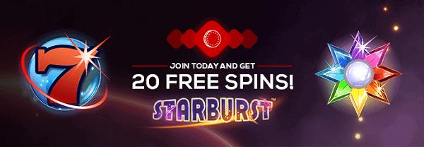 Claim 20 free spins on registration!