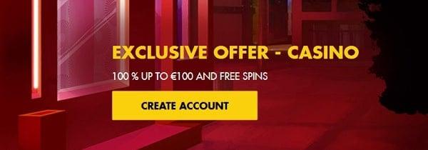 Bethard Casino 100 gratis spins