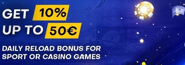 Bettilt Casino reload bonus