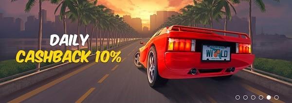 Hotline Casino daily cashback 10%