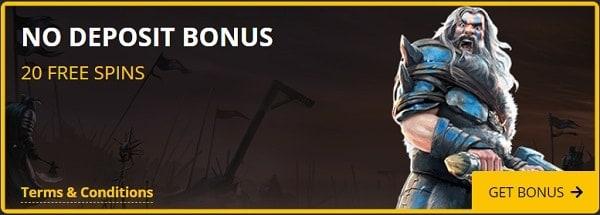 Play 20 free spins now! It's a no deposit bonus!