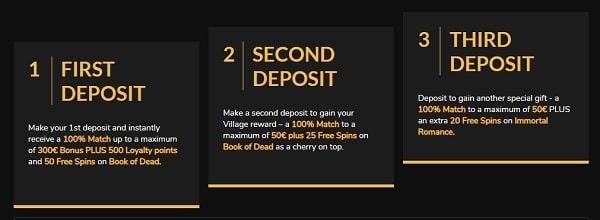 Jackpot Village Casino free spins and free cash bonus