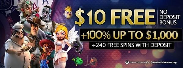 $10 no deposit bonus