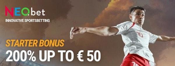 200% up to 50€ bonus