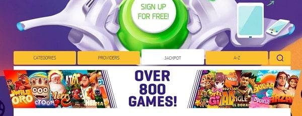 LuckMe Casino 900 games