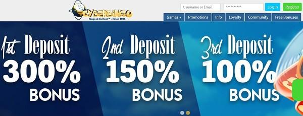 Exclusive welcome bonus on bingo and casino games