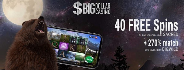 40 Free Spins and 270% welcome bonus