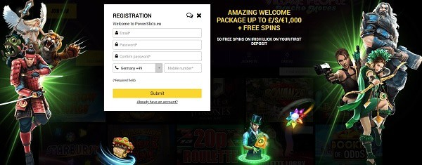 Register and play free games