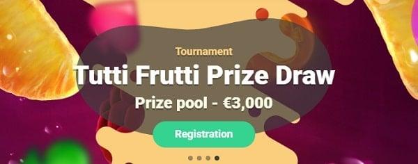 Yoyo Casino tutti frutti prize draw