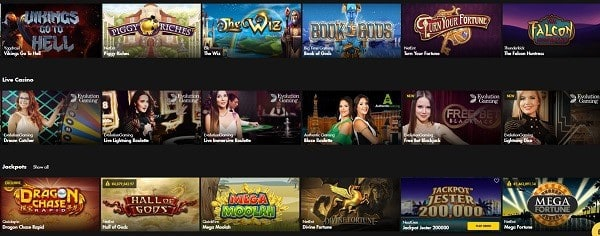 Bethard Casino free games and best software