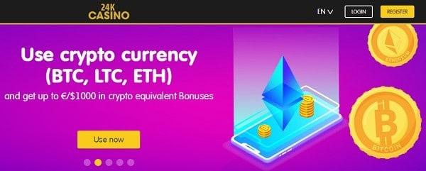 24K crypto banking - BTC, LTC, XRP, LTC, ETH