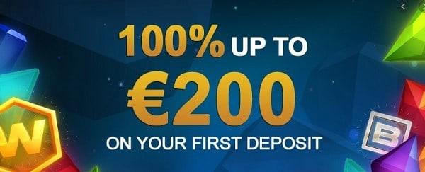 100% bonus, no max cashout