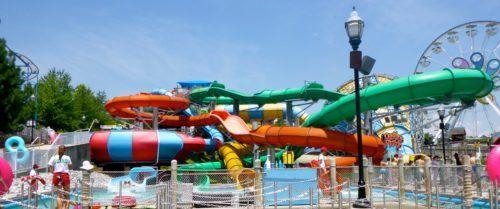 The coastline plunge slides are fast and fun