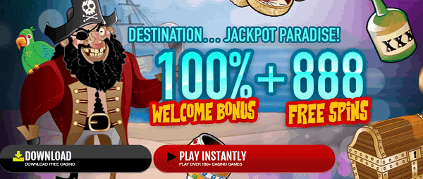 100% welcome bonus + 888 free rounds