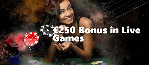 250 EUR Live Casino