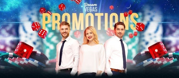 Dream Vegas Casino welcome bonus and other promotions