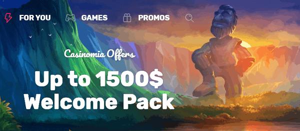 1500 EUR welcome bonus pack