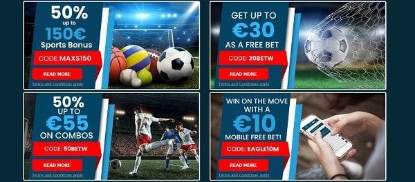 10/20 EUR free bet bonus