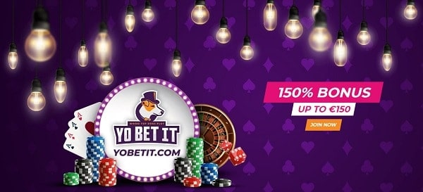 150% welcome bonus and free spins