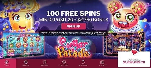 Sugar Parade free spins