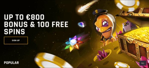 100 gratis bonus