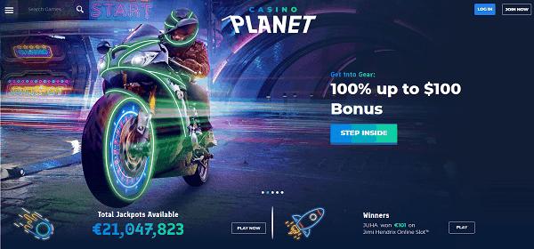 100% up to $100 welcome bonus