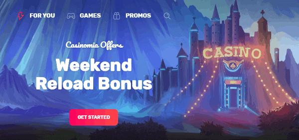 Weekly Reload Bonus 50% up to 500 EUR