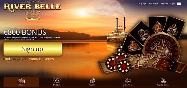 River Belle Casino $800 free bonus