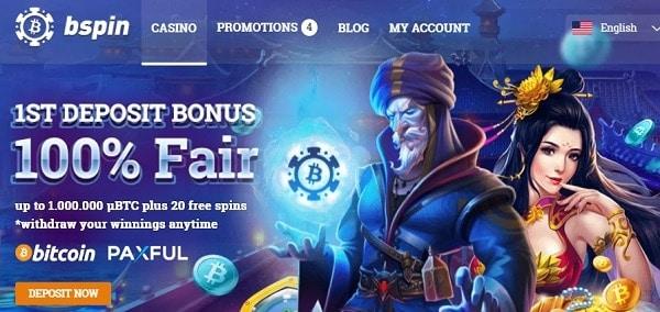 100% bonus and 20 free spins