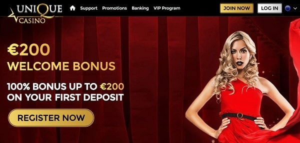 100% bonus for new players with 1st deposit