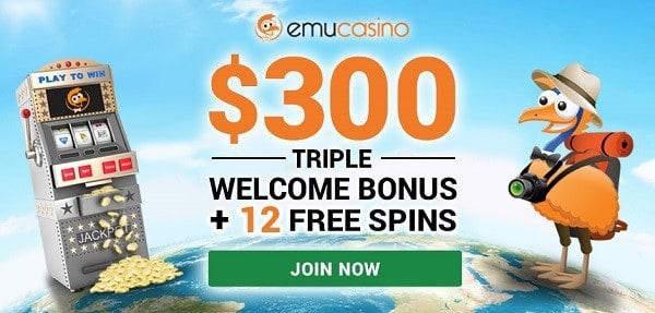 12 free spins no deposit bonus to EmuCasino