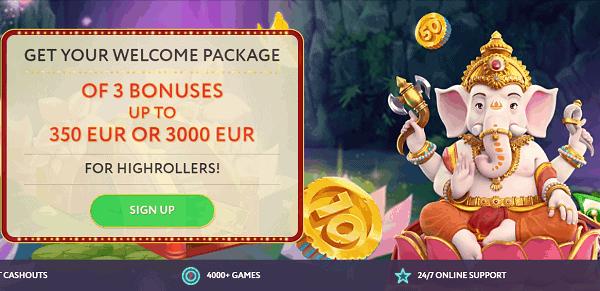 3,000 EUR high roller bonus