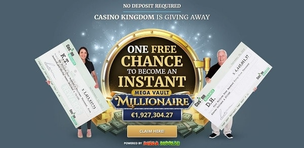 One free chance - buy $1 get 40 free spins!
