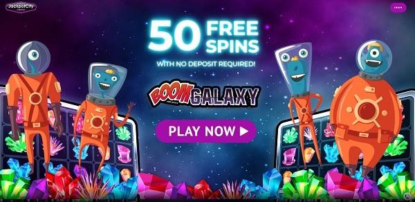 Jackpot City Casino 50 Free Spins Boom Galaxy