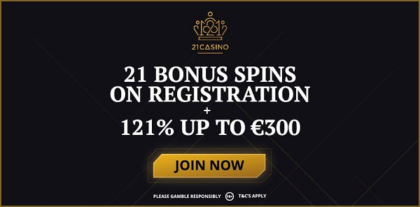 21 free spins on Book of Dead slot