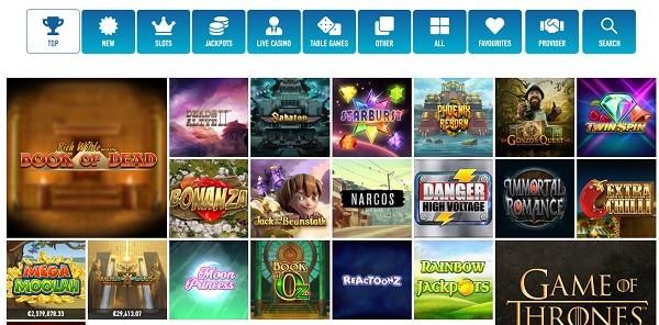 Slotnite Casino games and providers