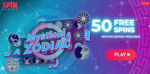 50 Free Spins on Mystical Zodiac