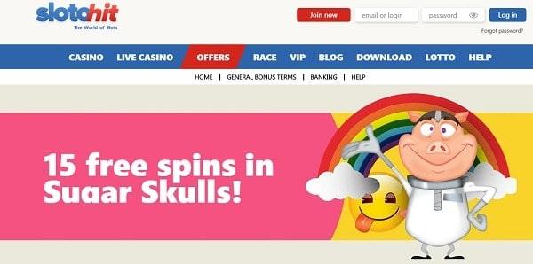 15 free spins on registration! No deposit required!