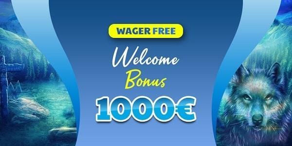 1.000 EUR bonus with no wagering!