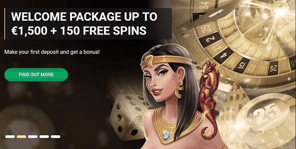 1500 EUR + 150 Freispiele Bonus