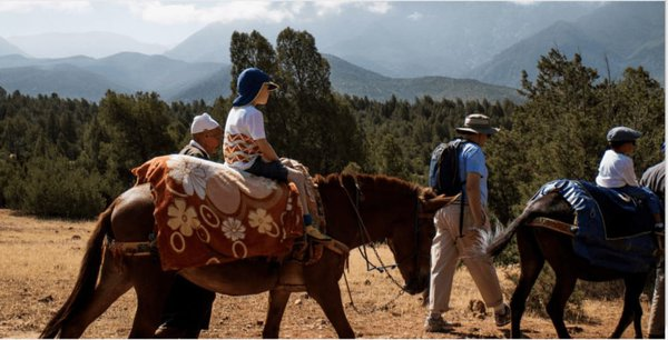 Kids ride horses on a morocco trip with explore worldwide.