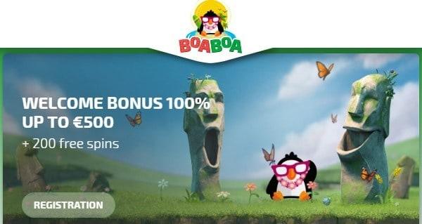 BoaBoa Casino welcome offer