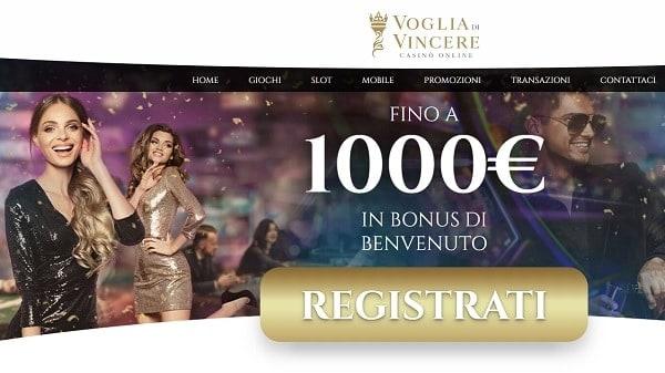Bonus di benvenuto esclusivo sui giochi da casinò online italiani