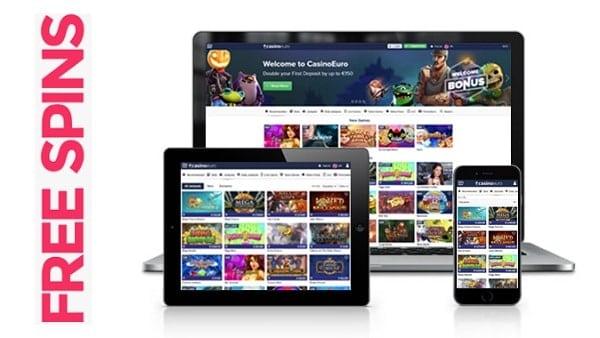 CasinoEuro.com 100% free bonus and up to 200 free spins