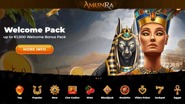 AmunRa Welcome Bonus