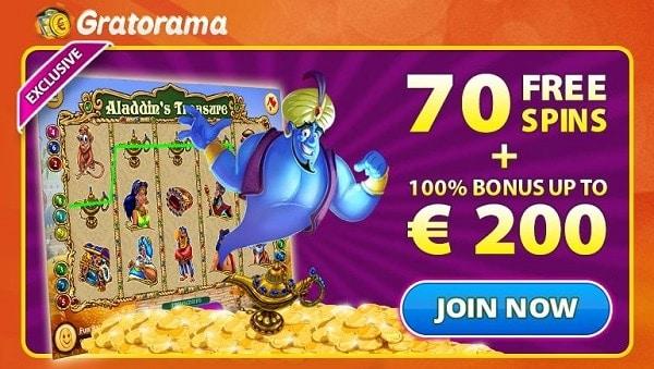 Gratorama 70 free spins