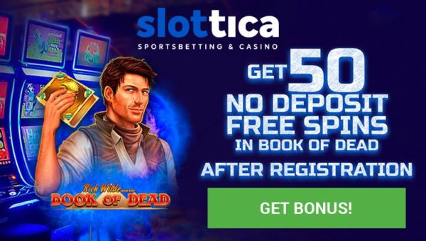 50 free spins on Book of Dead